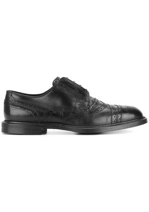 Dolce & Gabbana punch hole detail Derby shoes - Black