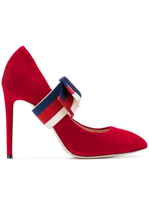 Gucci removable Web bow pumps - Red