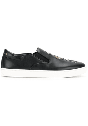 Dolce & Gabbana London slip-on sneakers with designers' patches -