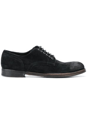 Dolce & Gabbana distressed derby shoes - Black