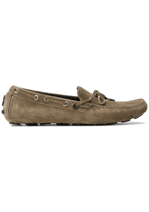 Moncler classic boat shoes - Green