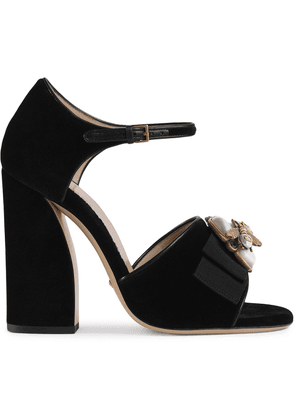Gucci Velvet sandals with bee - Black