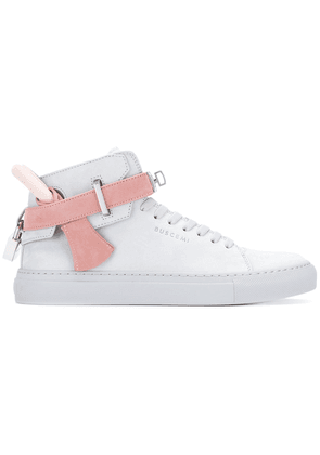 Buscemi tie detail high-top trainers - Grey