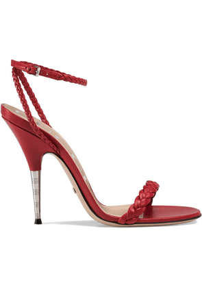 Gucci Braided leather sandal - Red