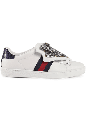 Gucci Ace sneaker with removable embroideries - White