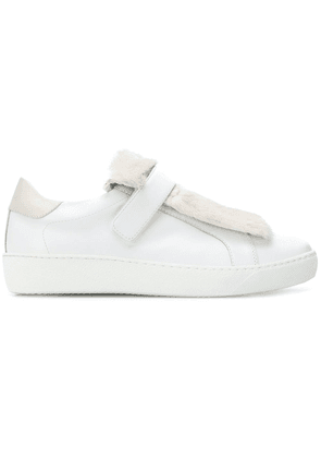 Moncler embellished strap sneakers - White