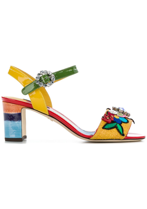 Dolce & Gabbana embroidered sandals - Multicolour