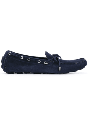 Moncler eyelet lace-up loafers - Blue