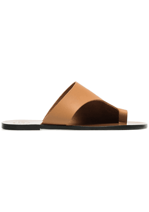 Atp Atelier brown rosa cut out leather sandals