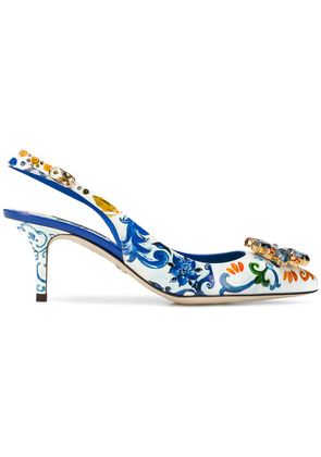 Dolce & Gabbana floral pointed pumps - Multicolour