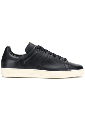 Tom Ford perforated logo sneakers - Blue