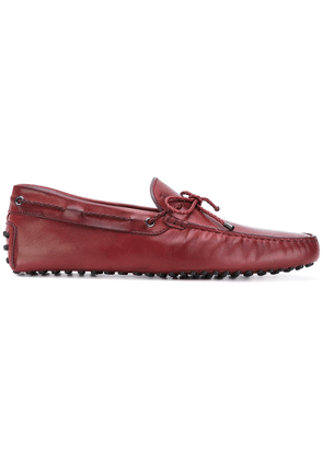 Tod's bow detail loafers - Red