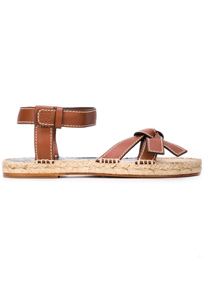 Loewe knotted strap espadrille sandals - Brown