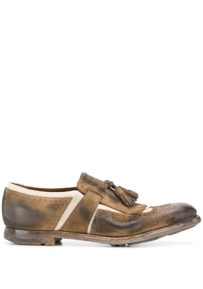 Church's used-look loafers - Brown