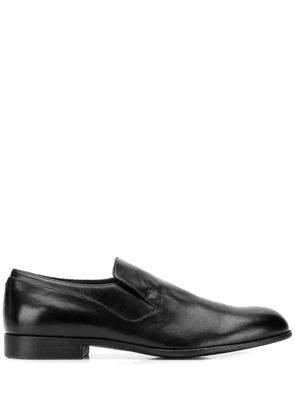 Pantanetti round toe loafers - Black