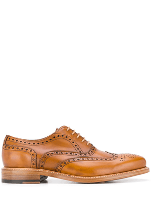 Berwick Shoes perforated detail oxford shoes - Brown
