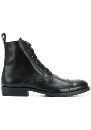 Ann Demeulemeester lace-up ankle boots - Black