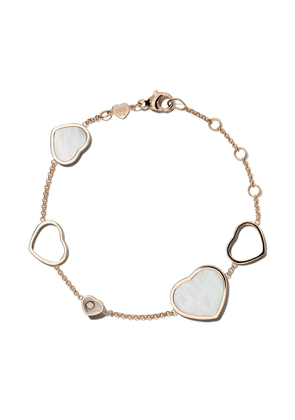 Chopard 18kt rose gold Happy Hearts mother of pearl and diamond