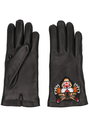 Gucci Angry Cat gloves - Black