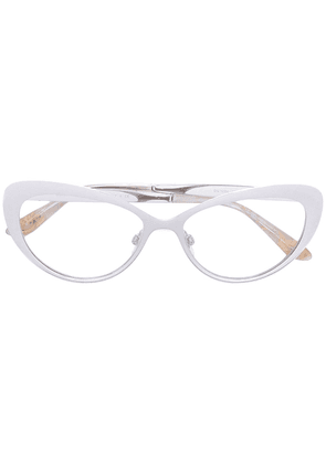 Dolce & Gabbana Eyewear classic cat-eye glasses - Metallic