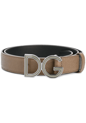 Dolce & Gabbana logo plaque belt - Grey