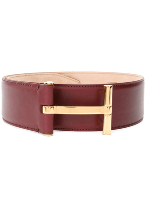 Tom Ford T buckle belt - Red