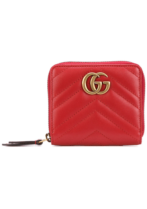 Gucci small Marmont zip around wallet - Red