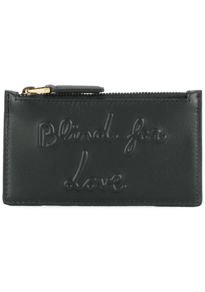 Gucci blind for love embossed coin pouch - Black