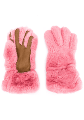 Marni two-tone gloves - Pink