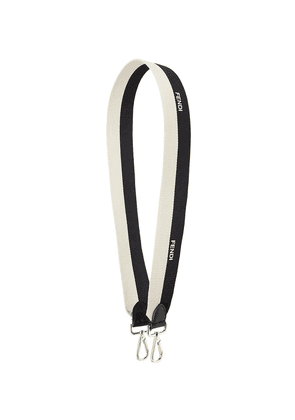Fendi bicolour shoulder strap - Black
