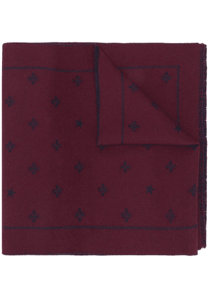 Gucci bees and stars scarf - Red