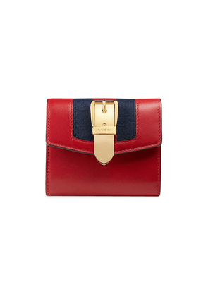 Gucci Sylvie leather wallet - Red