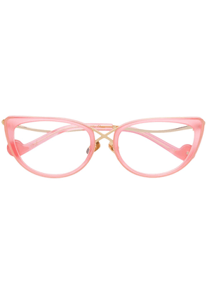 Anna Karin Karlsson The Cross cat eye glasses - Pink