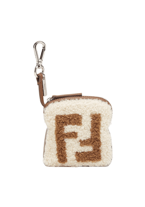 Fendi FF logo key ring - White