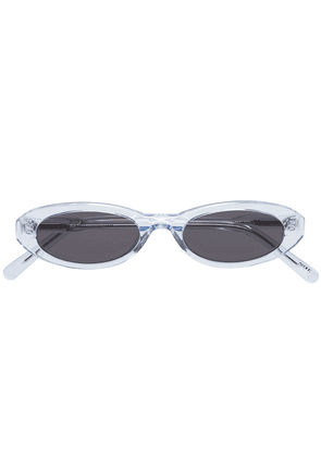 Chimi clear oval sunglasses - Blue
