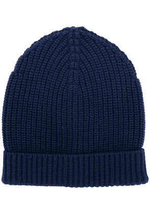 Dolce & Gabbana ribbed knit beanie - Blue