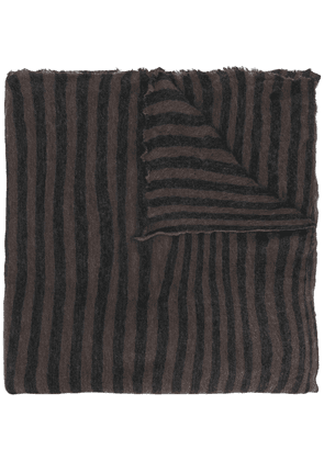 Isabel Marant Zephyr striped scarf - Brown