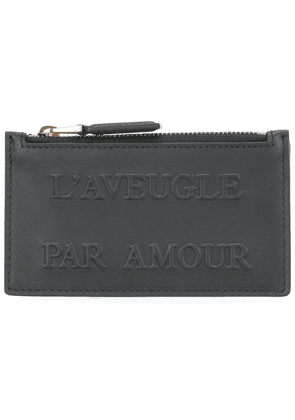 Gucci L'Aveugle Par Amour embossed card case - Black