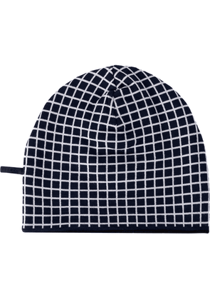 Haider Ackermann checked print beanie - Black