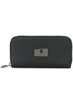 Billionaire zip around logo wallet - Grey