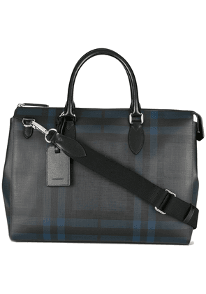Burberry Large London Check Briefcase - Blue