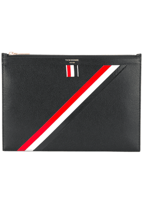 Thom Browne striped detail pouch - Black