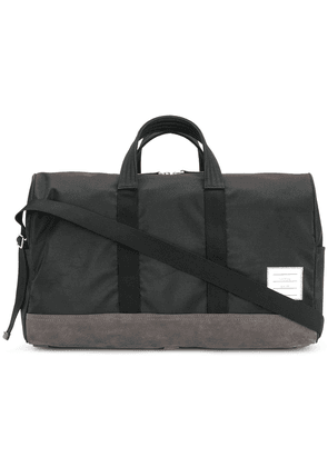 Thom Browne Unstructured Holdall In Nylon And Suede - Black e8c83f5056426