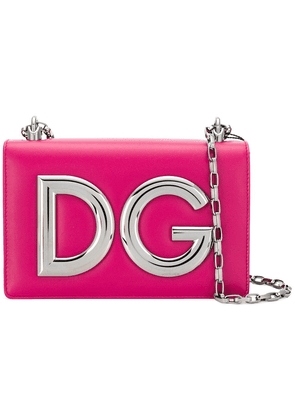 Dolce & Gabbana logo plaque clutch bag - Pink