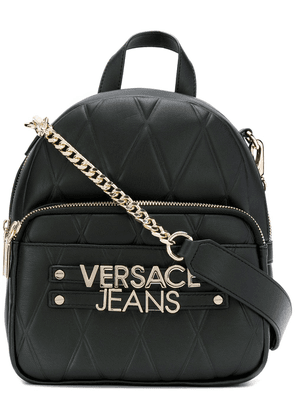 Versace Jeans quilted mini backpack - Black