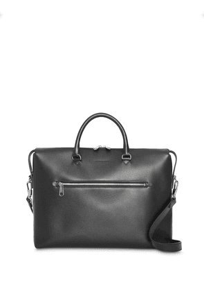 Burberry Large Textured Leather Briefcase - Black