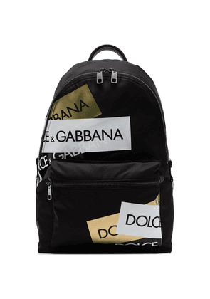 Dolce & Gabbana logo patch backpack - Black