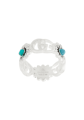 Gucci double G flower ring - Metallic