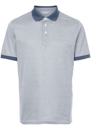 Gieves & Hawkes houndstooth polo shirt - Blue