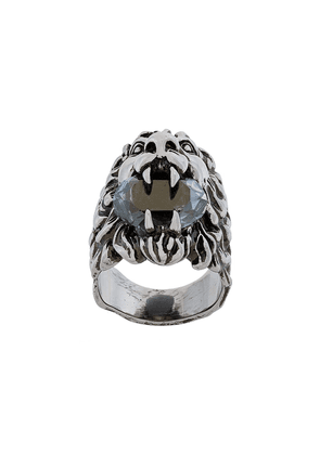 Gucci lion head ring - Metallic